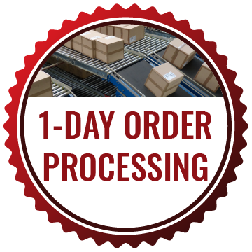 1-day order processing